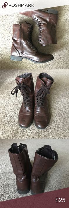 Combat boots Great condition. Worn handful of times. Lace up combat boots Shoes Combat & Moto Boots