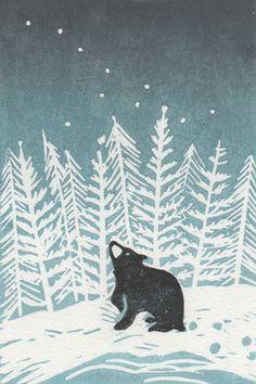 Tree graphic design illustrations simple 41 ideas for 2019 Art And Illustration, Design Illustrations, Doh Vinci, Drawing Simple, Impression Textile, Illustrator, Linoprint, Winter Art, Winter Snow