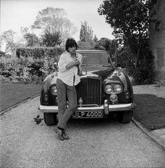 Keith Richards with his Bentley Continental 'Blue Lena', Redlands, West Sussex, 1966 Keith Richards, Angela Richards, Jerry Schatzberg, Morrison Hotel, The Rolling Stones, Dream Cars, Ron Woods, Charlie Watts, New Wave