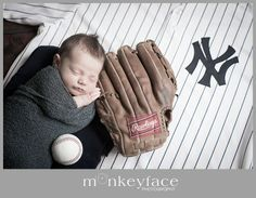 New York Yankees baby photography baseball
