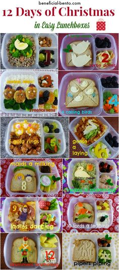 beneficial-bento.com How I made the 12 Days of christmas lunches for my faamily