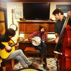 The Avett Brothers backstage