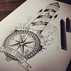 Lighthouse / Compass by EdwardMiller on deviantART