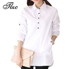Pin Elegant Blouse White Shirt Women Size S-3XL Ladies Office Shirts Formal & Casual Cotton Blouse Fashion Blusas Femininas to one of your boards if you like it !