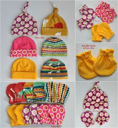 Free Pattern and Tutorial for Baby Mitts to celebrate Gracious Threads 'virtual' Baby Shower.