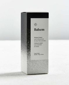 Balsem Shave Cream: This luxurious shaving cream leaves skin feeling smooth and comfortable. Rich in skin conditioners like Canadian Willowherb, Sunflower Seed Oil, and Aloe Vera, this formula allows for a clean, sleek shave while soothing skin. Skincare Packaging, Cosmetic Packaging, Beauty Packaging, Foam Packaging, Print Packaging, Packaging Ideas, Perfume, Baking Soda For Acne, Aloe Vera