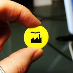 Factory Records Logo Badge by WearMoreButtons