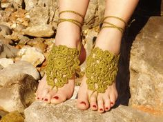 Khaki Barefoot Sandals
