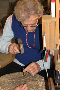 One of our more famous customers! Sir Ian McKellen, working on his very own One Ring replica in our Nelson workshop!