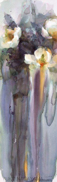 Watercolor Flowers, Watercolor Paintings, Watercolor Japan, Watercolors, Paintings I Love, Flower Paintings, Still Life Flowers, Drip Painting, Alcohol Ink Art