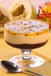 Receita de mousse de chocolate e maracujá