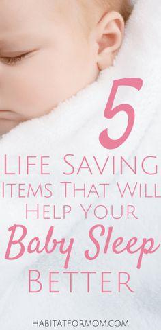 Baby sleep tips. Items to help you baby sleep better. Help baby sleep. #babysleep #baby #habitatformom