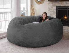Cozy up for a movie in the best way possible with Chill Bag, the eight-foot bean bag.