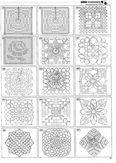 Over 1,000 crochet motifs in this site || Receitas de Crochet: Mais de 1,000…