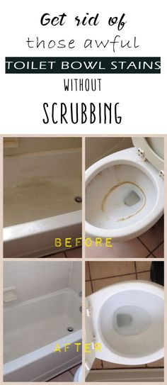 Porcelain is porous and due to this factor, it is extremely prone to stains. Many cleaning products on the market such as freshening tablets and chemical based cleansers can leave stains in the bowl, as well as hard water stains.