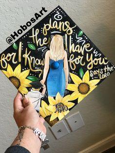 by @HobosArt Custom Graduation Caps, Grad Cap, Colorful Wall Art, Beautiful Paintings, Peace And Love, Photo Wall Art, Original Paintings, Hand Painted, Cap Ideas