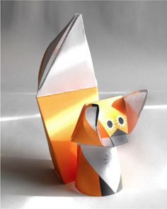 Printable 3D Orange Fox
