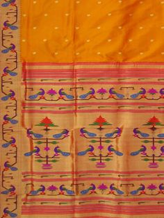 Paithani Saree peacock border design