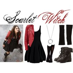 Scarlet Witch by sallyrose2 on Polyvore featuring Halston Heritage, Forever 21, Wolford, Charlotte Russe, John Hardy, Barneys New York, Quiksilver and ageofultron