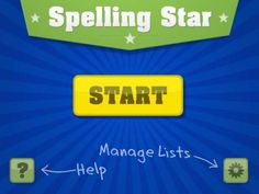FREE app May Spelling Star is the perfect app for practicing your spelling lists. Create lists by entering words and recording the audio. Practice spelling each word correctly three times to become a Spelling Star! Spelling Practice, Spelling Lists, Spelling Activities, Spelling Words, Spelling App, App Of The Day, Literacy Programs, Teachers Aide, School Subjects