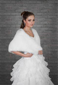 Bridal Cape Bolero Wedding Shrug Stole Wrap Shawl Choice of Ivory or Black Faux Fur Made to Order Uk on Etsy, $90.61 CAD