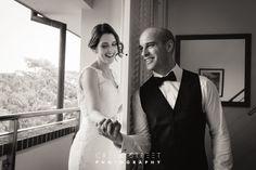 Behind the wall Photos - Watsons Bay Hotel wedding photos