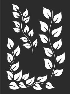 Dylusions Stencils by Ranger Signature Designer Dyan Reaveley Ranger has partnered with Crafter s Workshop to bring fine quality stencils to the Dyan Stencil Flor, Leaf Stencil, Stencil Diy, Stenciling, Stencil Printing, Stencil Templates, Stencil Patterns, Stencil Designs, Woodworking Logo