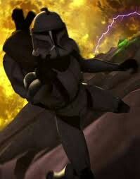 Clone trooper charger falling to his death