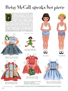 Loads of vintage printable paper dolls. Love these