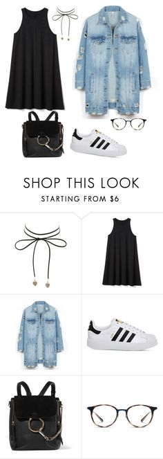 """Untitled #220"" by arlem-cruz ❤ liked on Polyvore featuring Charlotte Russe, Gap, LE3NO, adidas, Chloé and Ray-Ban"