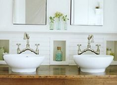 Shelf and niches in Bath  Bungalow Blue Interiors - Home - designer love: molly frey design