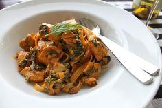 Mushroom and Basil Fettucine - Chef Ronnie Woo