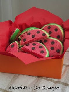 Watermelon Cookies by simonacallas Watermelon Cookies, Cookie Tutorials, Cookie Recipes, Sunglasses Case, Tropical, Hawaii, Cookies, Colors, Fine Dining