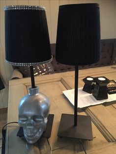 Crystal head vodka lamp