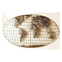 Iron World Map Wall Art I ($99) ❤ liked on Polyvore featuring home, home decor, wall art, pirate, iron wall art, iron home decor, iron sculptures, home decorators collection and map wall art