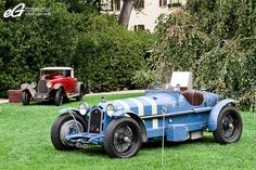 1931/1934 .. Le Mans winners .. Alfa Romeo 8C 2300 LM .. 1931 .. Driven by Lord Howe / Viscount Curzon / Sir Tim Birkin covered 3017 Kms. .... 1934 .. driven by L.Chinetti(USA) / P.Etancelin(F) averaging 121Kph . ,
