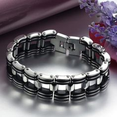 Just US$4.76, buy Titanium Steel Bicycle Chain Bracelet online shopping at GearBest.com Mobile.