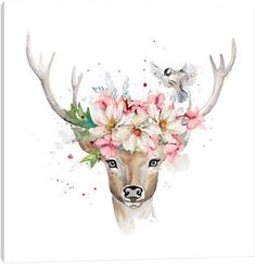 items - Shop our selection of Deer canvas prints. We use premium inks for brilliant color and hand-stretch each canvas print over museum-quality stretcher bars. Hirsch Illustration, Illustration Art, Baby Animal Drawings, Cute Drawings, Canvas Artwork, Canvas Art Prints, Deer Art, Cute Art, Watercolor Art