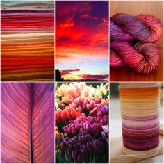 Mood Board Monday :: Nova Scotia Sunset - Tanis Fiber Arts