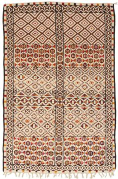 vintage moroccan hand-knotted rug.