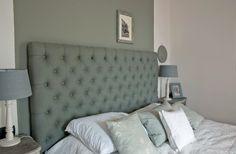 Grey, white & blue bedroom