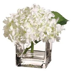 7 in. Hx7 in. Wx7 in. L Hydrangea in Vase White (Pack of 2), As Shown