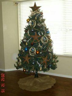 Art <b>Art.</b> western yard decor – theunitel. Western Christmas Tree, Cowboy Christmas, Christmas Tree Themes, Country Christmas, Xmas Tree, All Things Christmas, Winter Christmas, Christmas Tree Decorations, Christmas Holidays