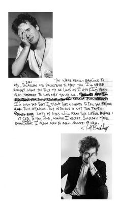 Jeff Buckley played Bob Dylan songs and wrote him a letter Jeff Buckley Grace, Tim Buckley, Jeff Buckly, Buckley Family, Bob Dylan Songs, Francis Wolff, Throwback Music, A Love Supreme, Duane Michals