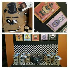 Five nights at freddy's birthday party.  Setting r he stage is one of the most important party to the theme.