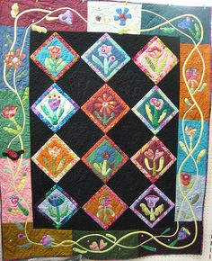 Folk flowers quilt