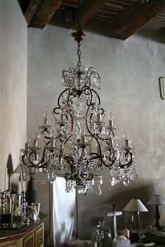 Lovely crystal chandelier