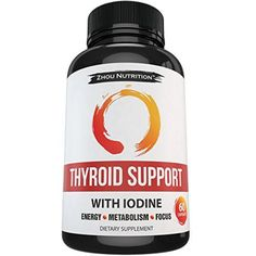 Thyroid Support Complex With Iodine to Improve Energy & Help Lose Weight - Natural Supplement to Increase Concentration, Boost Metabolism & Reduce Brain Fog - 'Feel-Like-Your-Old-Self-Again' Guarantee Zhou Nutrition Help Losing Weight, Yoga For Weight Loss, Lose Weight, Fast Metabolism Diet, Boost Metabolism, Fat Smash Diet, Brain Nutrition, Underactive Thyroid, Natural Supplements