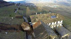 Giant rock smashes through Italian farm | wordlessTech
