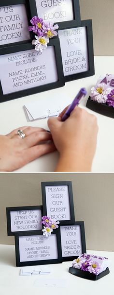 Wedding DIY: how to make a Rolodex Guest Book!